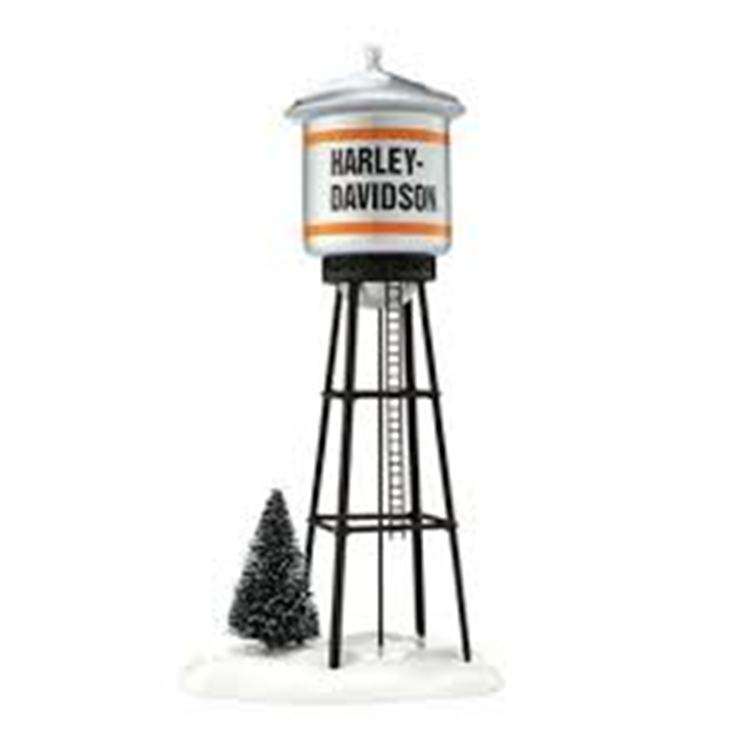 "Department 56 Village Accessory - ""Harley-Davidson Water Tower"""