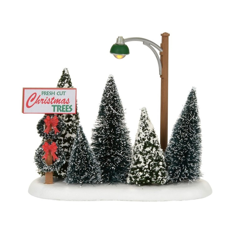 "Department 56 Village Accessory - ""Lit Christmas Tree Lot"""