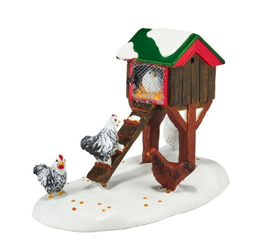 "Department 56 Village Accessory - ""Mistletoe Farm Chicken House"""