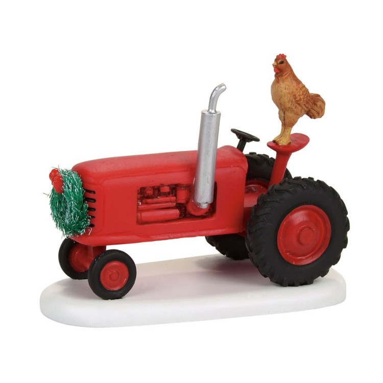 "Department 56 Village Accessory - ""Mistletoe Farm Tractor"""