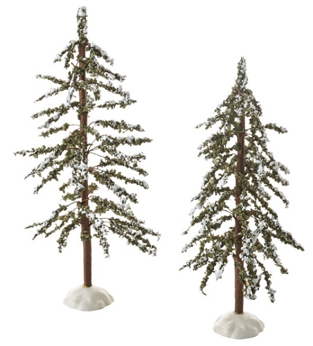 "Department 56 Village Accessory - ""Mountain Pines, Set of 2"""