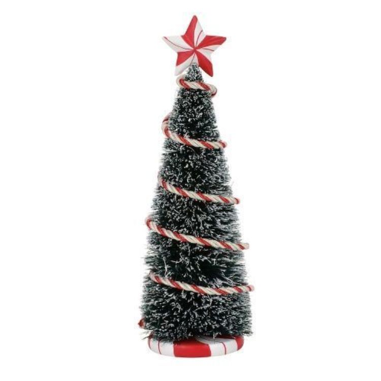 "Department 56 Village Accessory - ""Peppermint Tinsel Tree"""