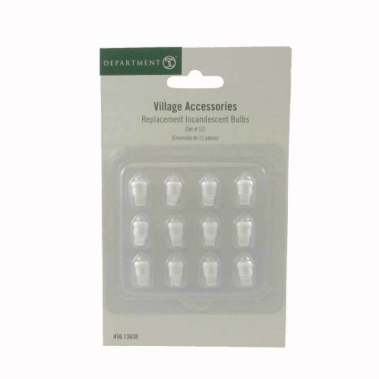 "Department 56 Village Accessory - ""Replacement Incadescent Bulbs"" - Set of 12"