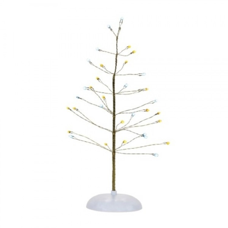 "Department 56 Village Accessory - ""Silver & Gold Twinkle Tree"""