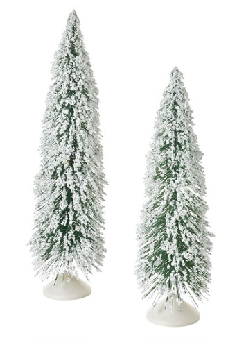 "Department 56 Village Accessory - ""Skinny Norway Pines, Set of 2"""