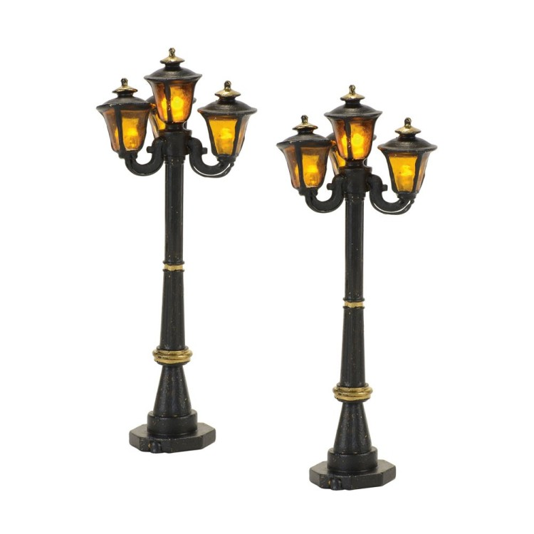 "Department 56 Village Accessory - ""Victorian Street Lamps"" - Set of 2"