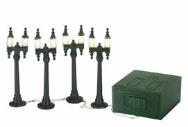 "Department 56 Village Accessory - ""Village Double Street Lamps"""