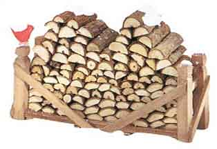 "Department 56 Village Accessory - ""Village Log Pile"""