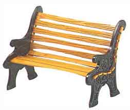 "Department 56 Village Accessory  - ""Village Wrought Iron Park Bench"""