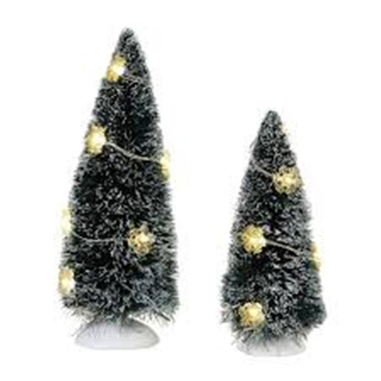 "Department 56 Village Accessory - ""Winter Flurries Sisal Trees"""