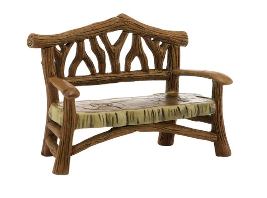 "Department 56 Village Accessory - ""Woodland Bench"""