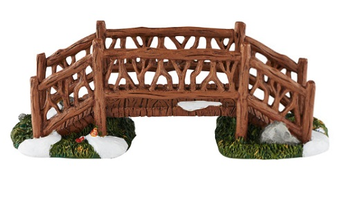 "Department 56 Village Accessory - ""Woodland Footbridge"""