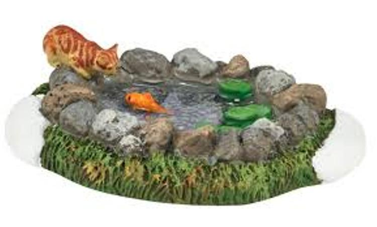 "Department 56 Village Accessory - ""Woodland Koi Pond"""