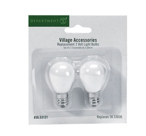 Department 56 Village - Village Replacement 3 Volt Light Bulbs