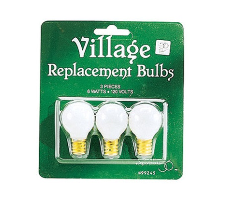"Department 56 Village - ""Village Replacement Round Light Bulbs"""