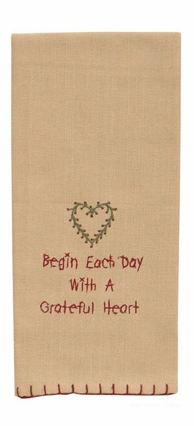 "Dish Towel - ""Begin Each Day Dish Towel"""