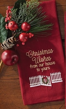 "Dish Towel - ""Christmas Wishes From Our House To Yours Dish Towel"""