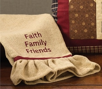 "Dish Towel - ""Faith Family Friends... Dish Towel"""