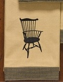 "Dish Towel - ""Fan Back Windsor Chair Dish Towel"""