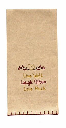 "Dish Towel - ""Live, Laugh, Love Dish Towel"""