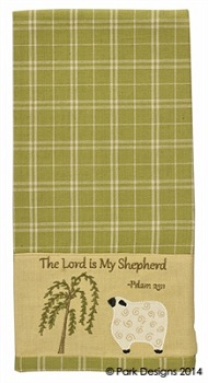 "Dish Towel - ""Lord Is My Sheperd Dish Towel"""