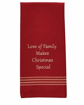 "Dish Towel - ""Love Of  Family Make Christmas Special Dish Towel"""