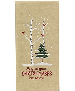 "Dish Towel - ""May All Your Christmases Be White Dish Towel"""