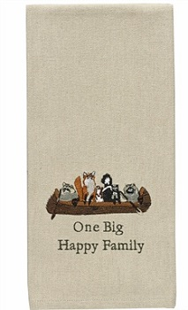 "Dish Towel - ""One Big Happy Family"""