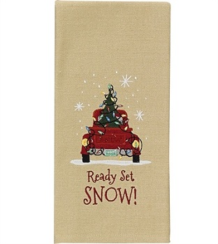 Park Designs Dish Towel - Ready Set Snow