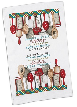 "Dish Towel - ""Terry Kitchen Rules Dish Towel"""