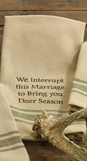 "Dish Towel - ""We Interrupt This Marriage.. Dish Towel"""