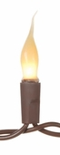 Mini Bulb String Lights - Silicone Coated - Brown Cord - Set of 20