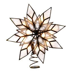 "Electric Tree Topper - ""Capiz Star"" - 8.5in"