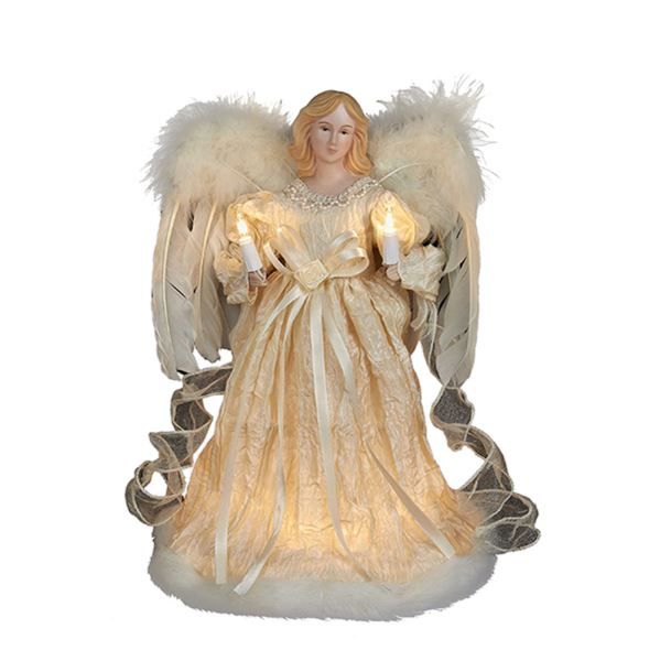 "Electric Tree Topper - ""Ivory Angel"" - 12in"