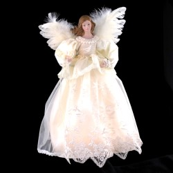 """Electric Tree Topper  - """"Ivory Angel Tree Topper"""" - 14.5"""""""