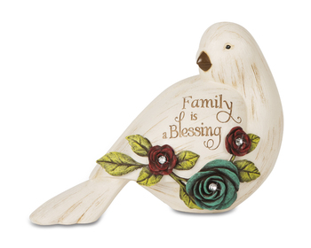 "Elements Collection - "" Family Is A Blessing Bird Figurine"""