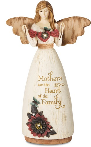 Elements Angel - Mothers are the Heart of the Family - 7.75 Inch