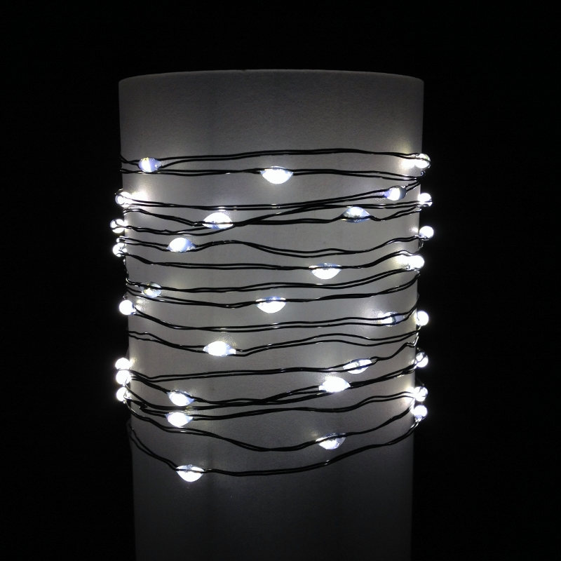 String Lights With Wire : LED Wire String Lights -Fairy Wire String Lights