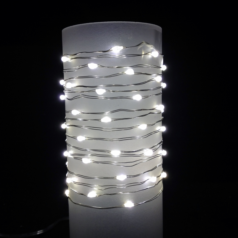Led String Lights Warm White Outdoor : Everlasting Glow Wire String Lights - Warm White LED - Battery/Silver Wire - Commercial Grade ...