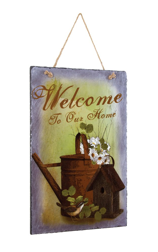 "Farmhouse Wall D�cor - ""Every Birdy Welcome Slate"""