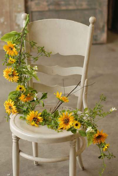 Floral Garland - Sunflower Garland - 4 Foot