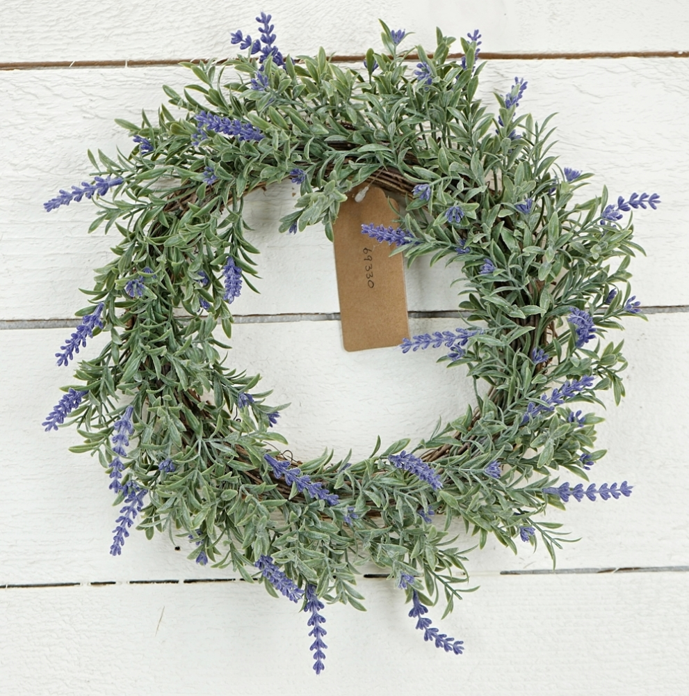 "Floral Wreath - ""English Lavender Wreath"" - 8 Inch"