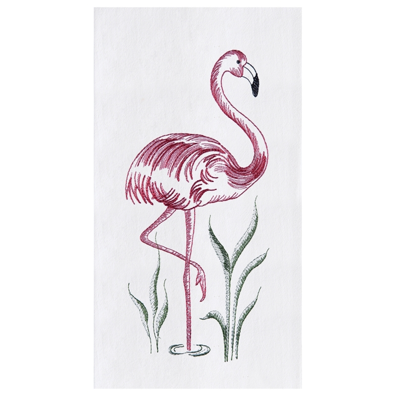 Flour Sack Kitchen Towel - Flamingo - 27in