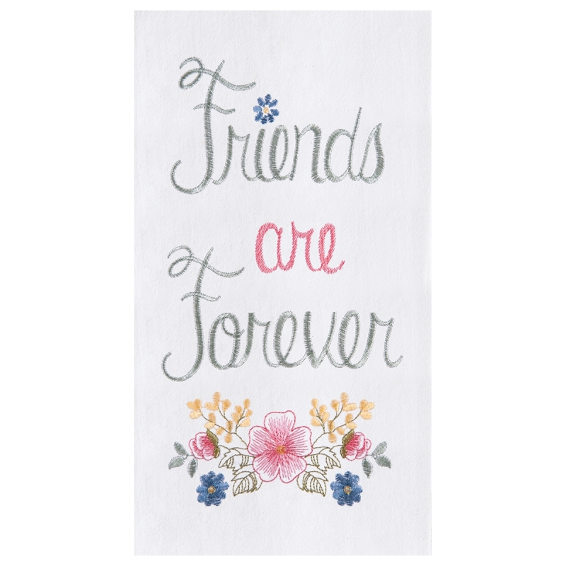Flour Sack Kitchen Towel - Friends Are Forever - 27in