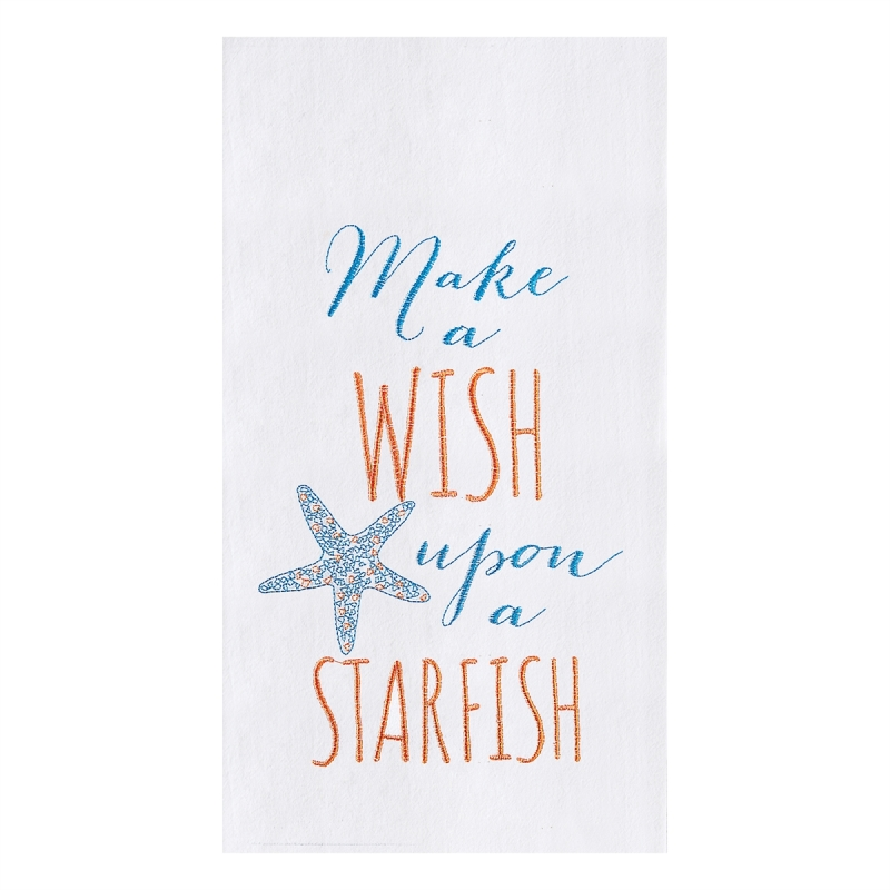 Flour Sack Kitchen Towel - Make A Wish - 27in