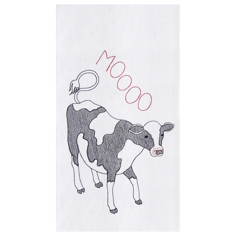 Flour Sack Kitchen Towel - Moo Cow - 27in