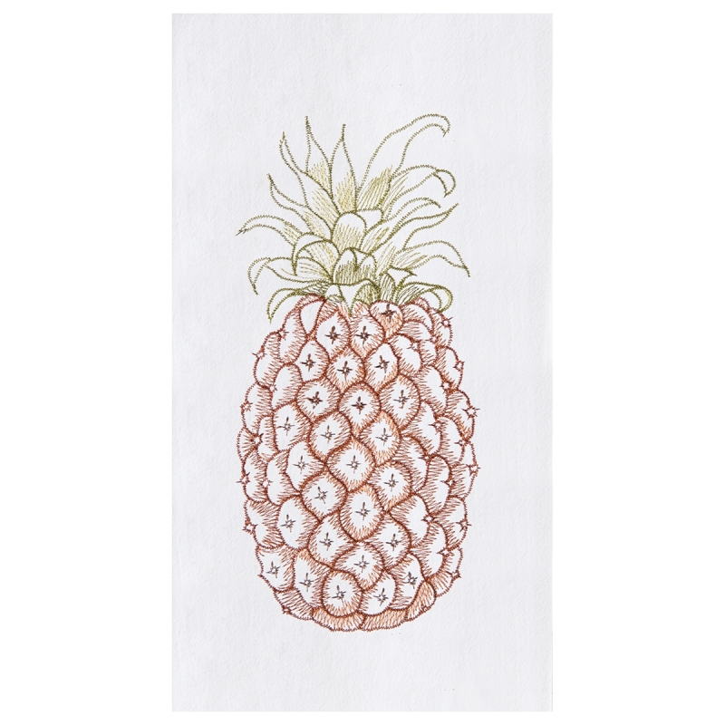 Flour Sack Kitchen Towel - Pineapple - 27in