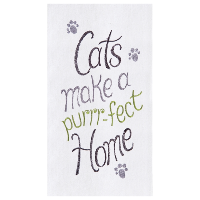 Flour Sack Kitchen Towel - Purrr-Fect Home - 27in