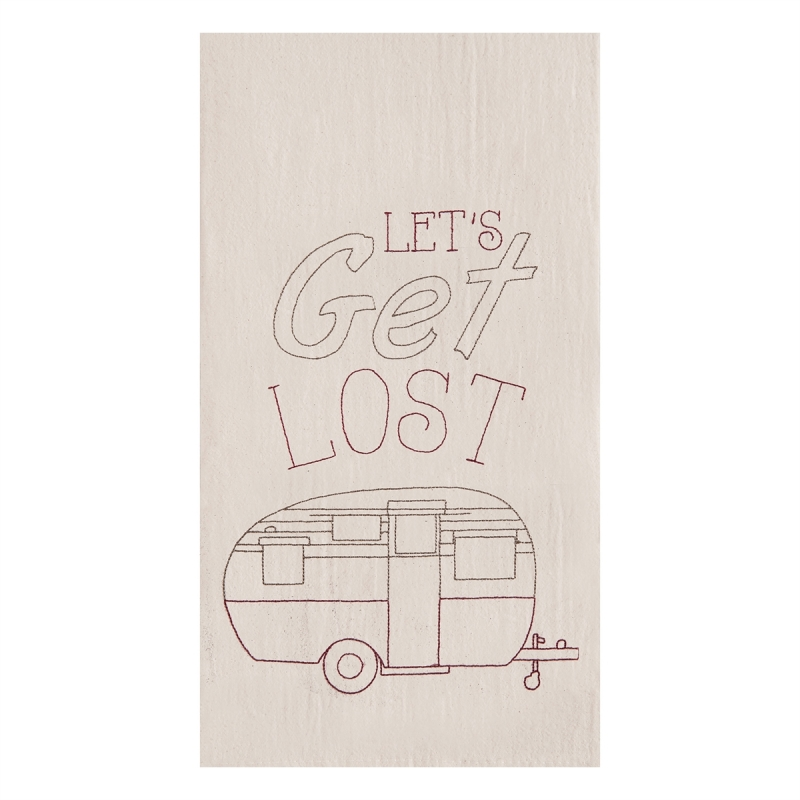 Flour Sack Kitchen Towel - RV Let's Get Lost - 27in