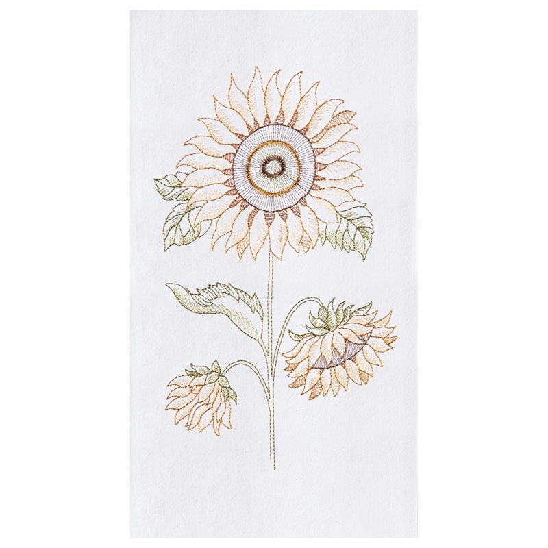 Flour Sack Kitchen Towel - Sunflower - 27in